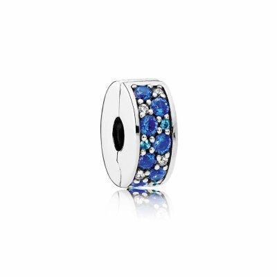 PANDORA Clip 791817NSBMX Blauer Pavé-Glanz