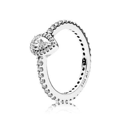 PANDORA Ring 196254CZ Strahlender Tropfen