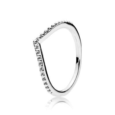 PANDORA Ring 196315 Perlenförmiger Wunsch