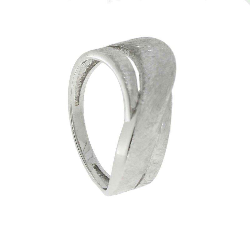 Kettler Damenring Silber 925/-rhod.Eismatt Gr. 58