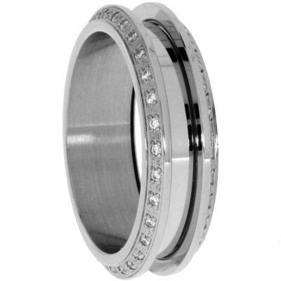 Bering Kombiring Diamantiert schwarz IJ13216