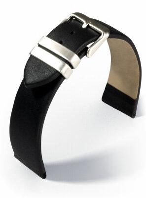 Eulit Lederband Iron Loop mit Stahlschlaufen schwarz