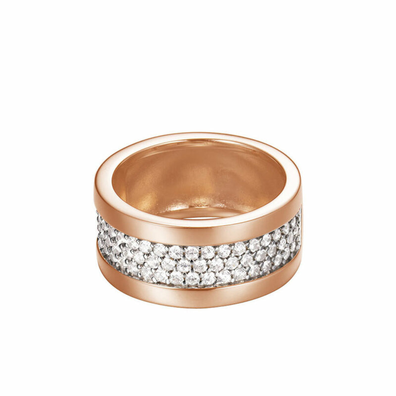 ESPRIT Damenring Rosè Pave ESRG92215 C190