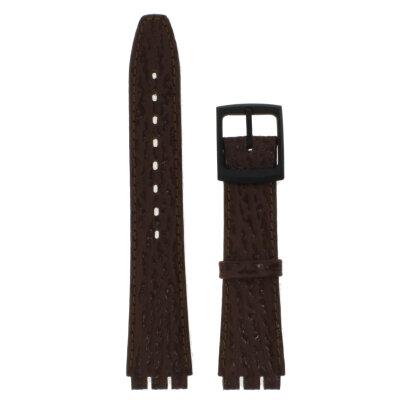 Ersatzarmband für Swatchuhren Leder braun 17 mm