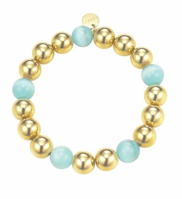 ESPRIT Armband Bold Spheres Mint Gold ESBR11662B160