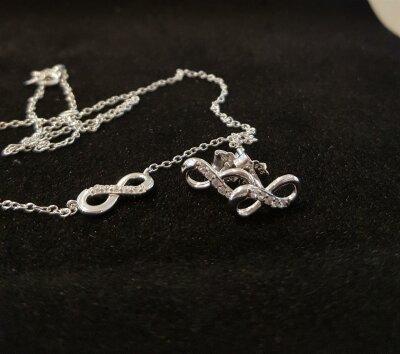 CEM Set Halskette und Ohrstecker Unendlichkeit BGT906203