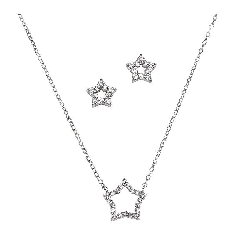 CEM Set Halskette und Ohrstecker Stern BGT906206