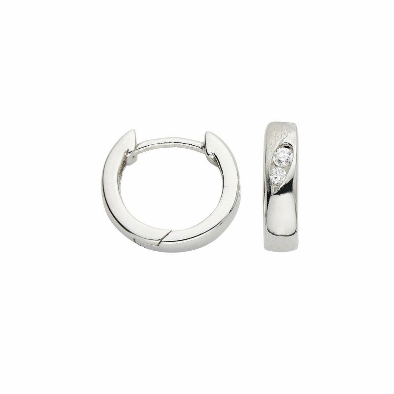 CEM Creolen Silber 925/- rhodiniert BCR900539 14x3,5mm