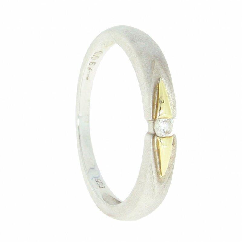 Kettler Damenring- Brillant 006 ct. in 585/-er Gelb-und Weißgold Gr. 58 99001020011