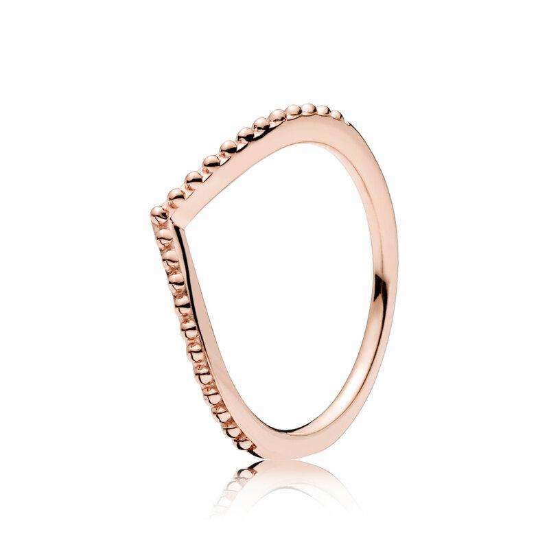 PANDORA ROSE Ring 186315 Perlenförmiger Wunsch