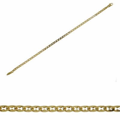 Armband Flachpanzer 585/- Gelbgold 14540