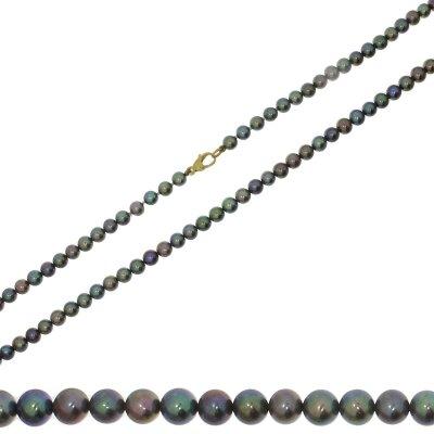 Kettler Perlenkette farbig 585/- GG 45 cm 14559