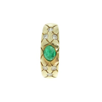 Kettler Smaragd-Damenring mit Brillanten 0,23 ct. in Gelbgold 585 14 Karat Größe 56