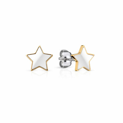 Bering Ohrstecker 706-25-05 Stern weiß/gold
