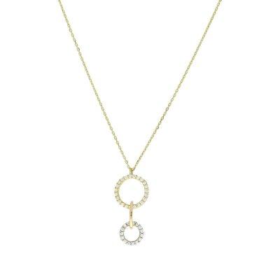 CEM Damenkette 333/- Gelbgold mit Behang H8-009C
