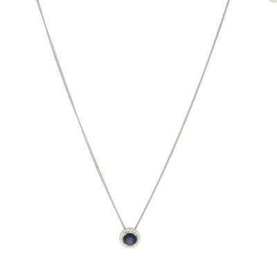 CEM Damenkette 375/- Weißgold mit Behang H8-018C
