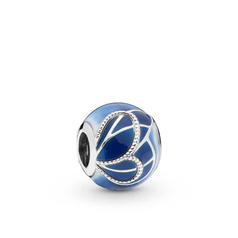 PANDORA Charm Blue Butterfly Wing 797886ENMX