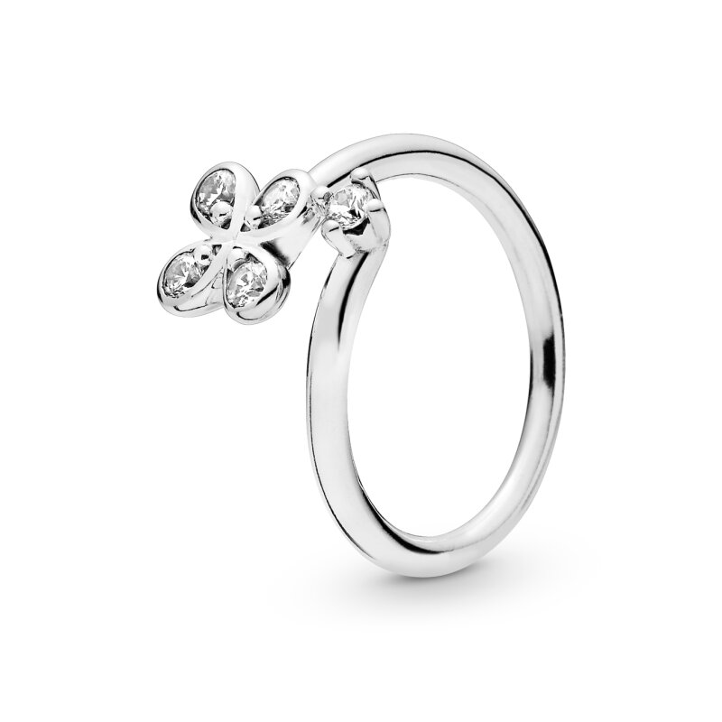 PANDORA Ring 197988CZ Four-Petal Flower