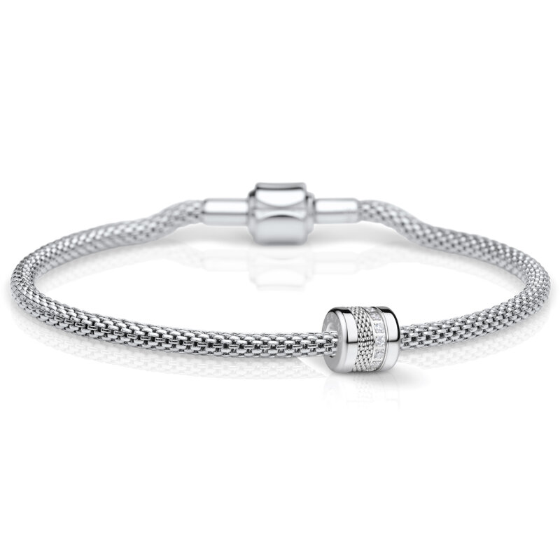 Bering Charm-Set silber 613-10-X0 + Love-3