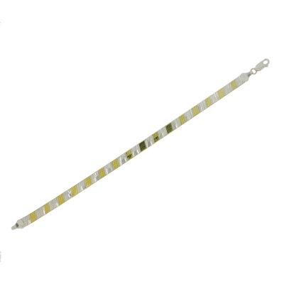Kettler Armband flach 925/- Bicolor 19 cm...