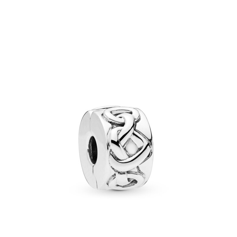 PANDORA Clip 798035 Knotted Hearts