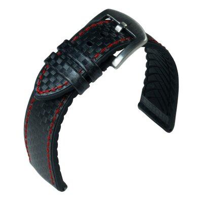 Eulit Lederband Eutec Carbon Schwarz 22mm 172622092