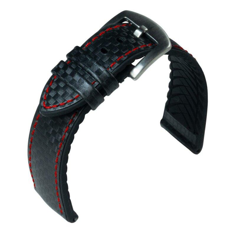 Eulit Lederband Eutec Carbon Schwarz 24 mm 172624092