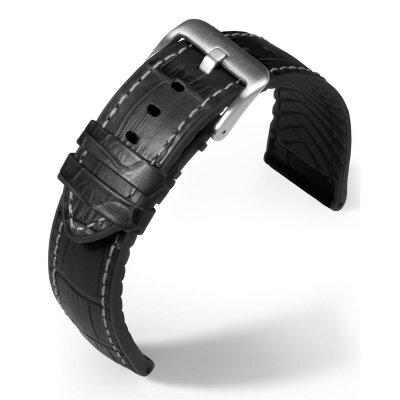 Eulit Lederband Eutec Belize Schwarz 22 mm 171622102
