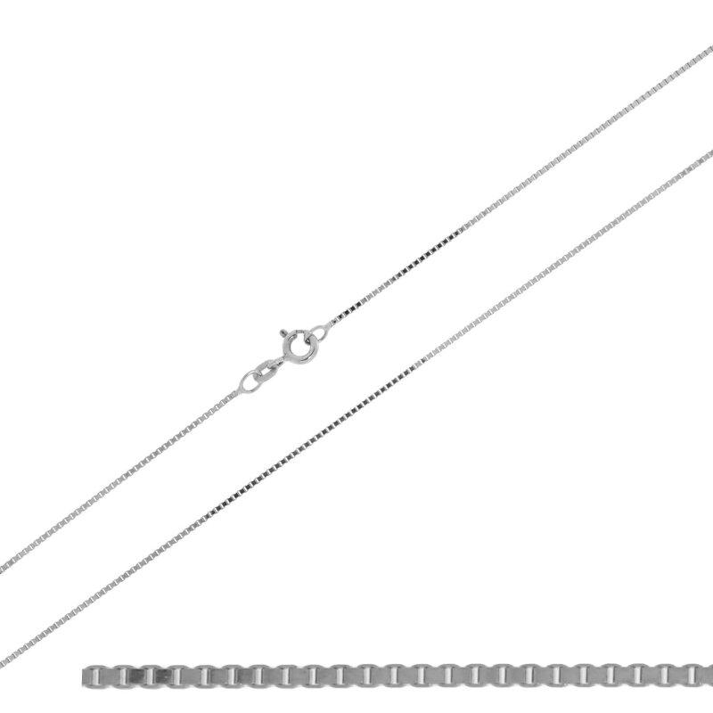CEM Kette 925/- Silber rhodiniert Venezia 50 cm BVR912