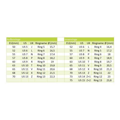 Bering Innenring 551-10-X2 Milanaise silber