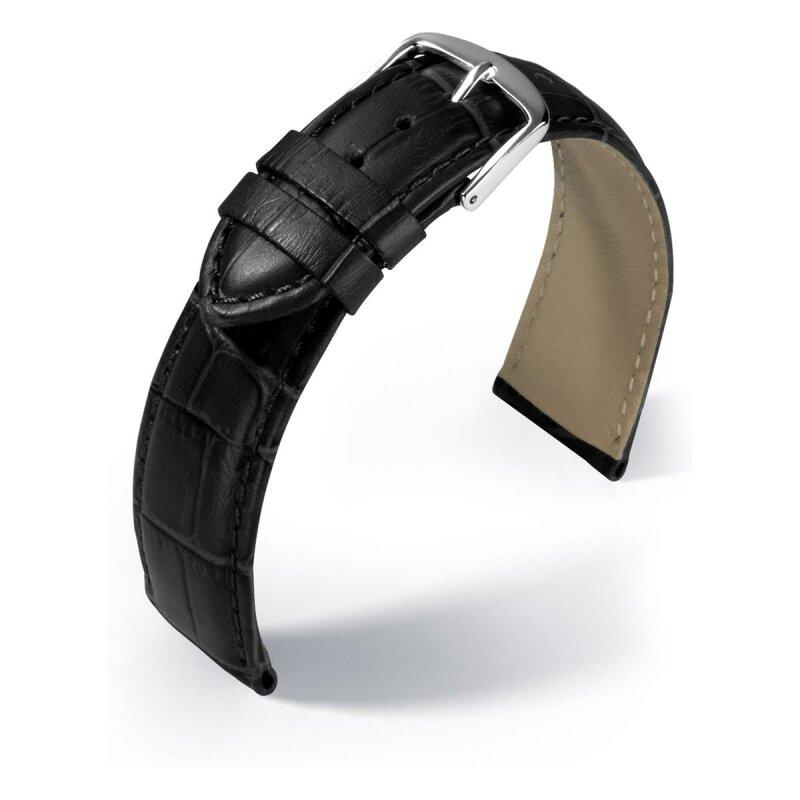 Eulit Lederband Guinea Schwarz 22 mm 8007622102