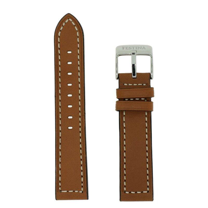 Festina Uhrenband weiße Steppung 21 mm 16393 hellbraun