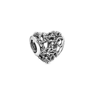 PANDORA Charm Heart & Beaded Stars 798462C00