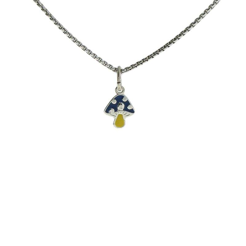 Kettler Kinderanhänger Fliegenpilz 925/- Sterlingsilber blau