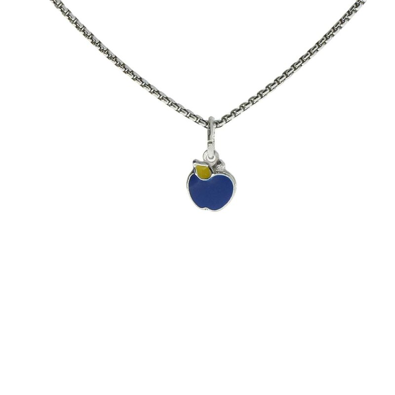 Kettler Kinderanhänger Apfel 925/- Sterlingsilber blau