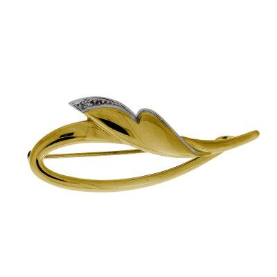Kettler Brillantbrosche 585/- Gelbgold 17708