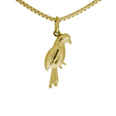 Anhänger Papagei in 333/- Gelbgold 17720