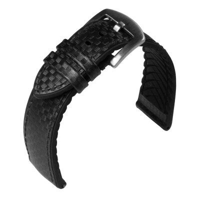 Eulit Lederband Eutec Carbon Schwarz 22mm 172622102