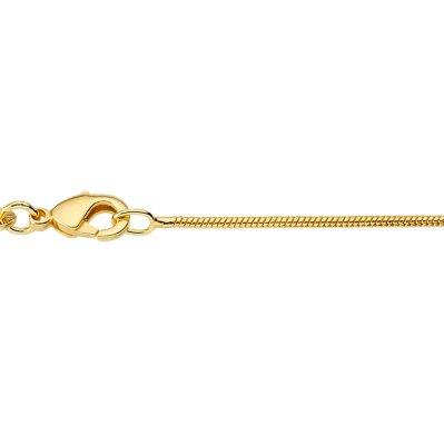 CEM Schlangenkette 50 cm 925/-  IP gelbgold BSGD12/50