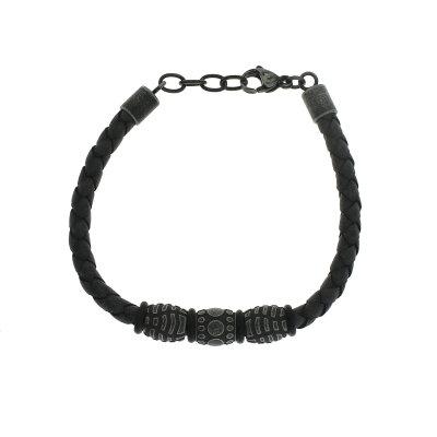 CEM Herren Armband Leder ST-00004B