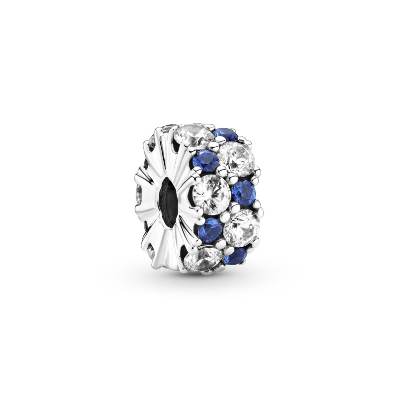 PANDORA Clip 799171C01 Clear & Blue Sparkle