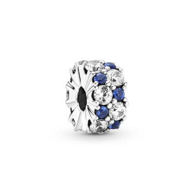 PANDORA Clip 799171C01 Clear & Blue Sparkle