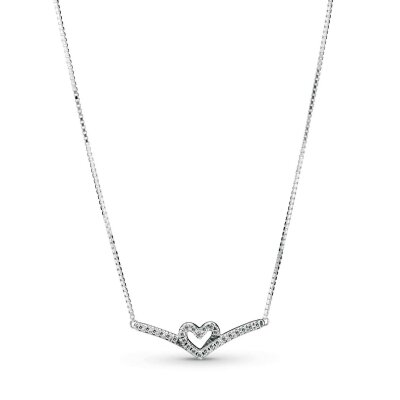 PANDORA Kette 399273C01-45 Wishbone Heart