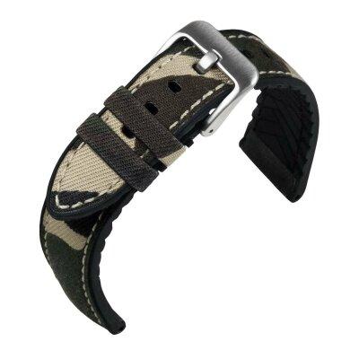 Eulit Uhrenband EUTec Camouflage Grau 22mm 173622122