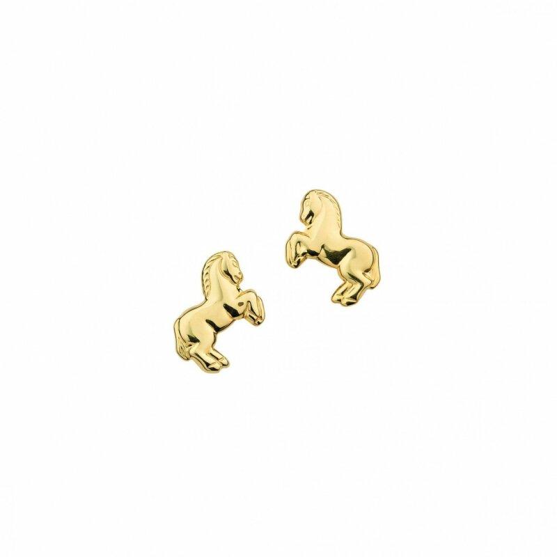 CEM Ohrstecker Gelbgold 333/- Pferd Größe ca. 6 x 8 mm 6-119470-001
