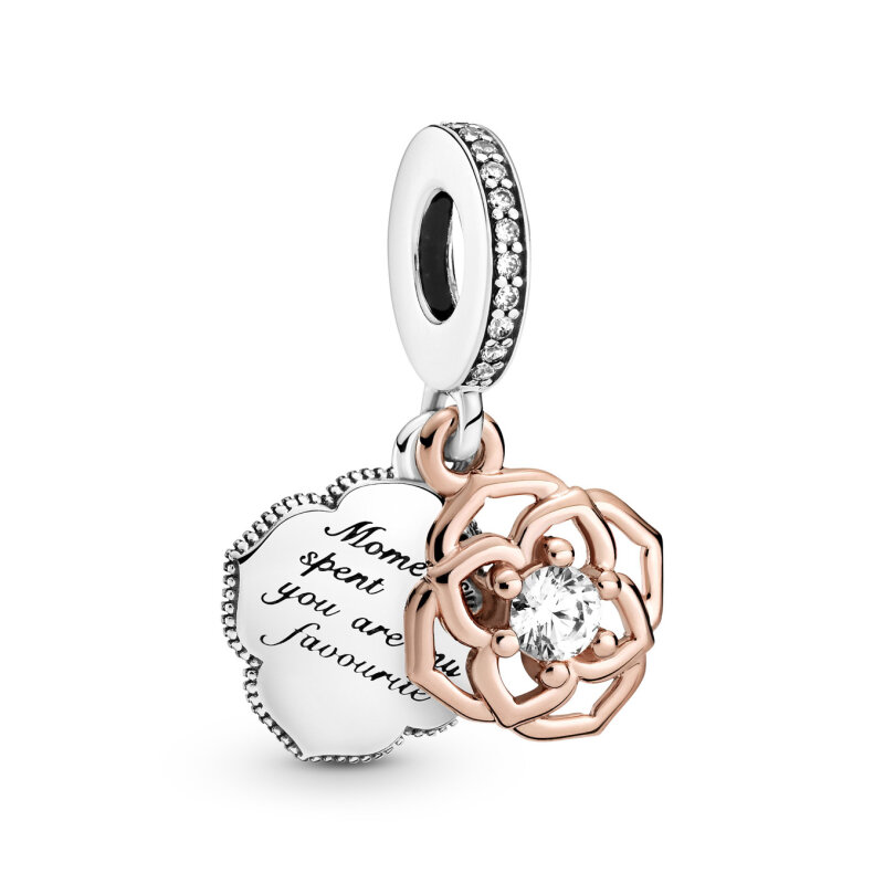 PANDORA ROSE 789373C01 Charm Anhänger Two-tone Rose