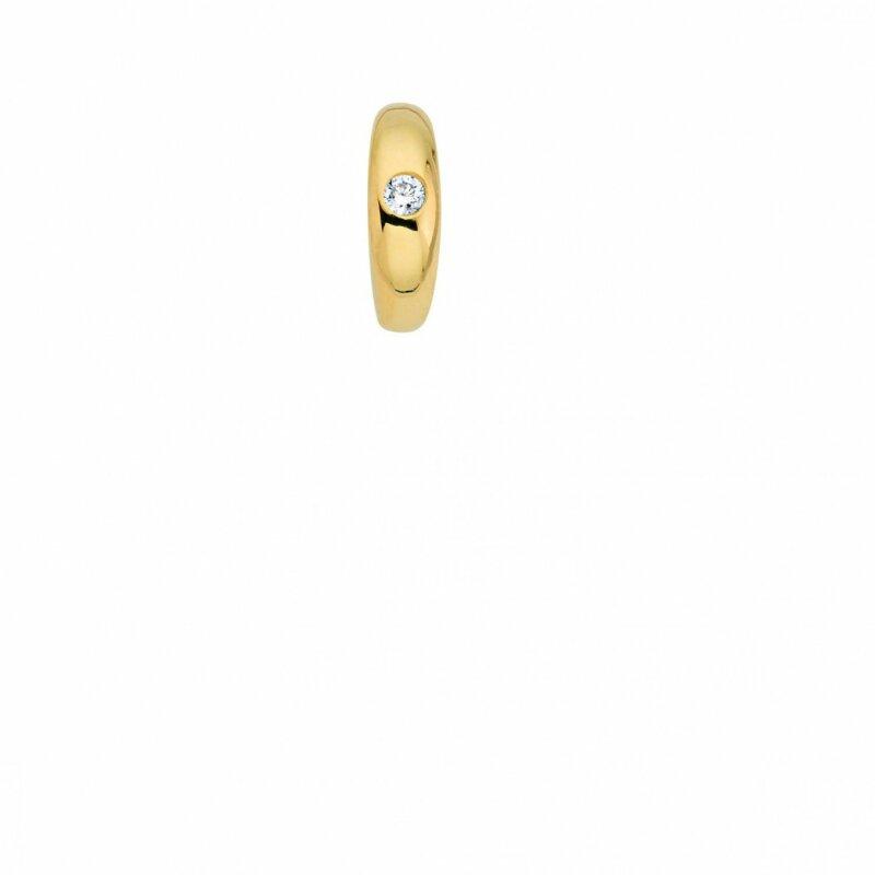 CEM Taufring Glücksanhänger mit Saphir Gelbgold 333/- Ø ca. 9 mm 6-119583-001
