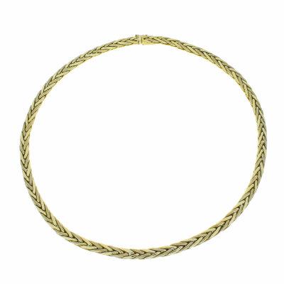 Collier 585/- Gelbgold Zopfkette 42 cm 21139