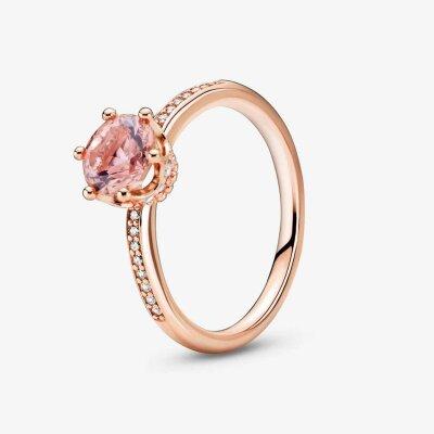 PANDORA Rosé Ring 188289C01-50 Sparkling Crown