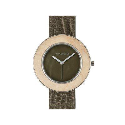 Rolf Cremer Wood 507106 Damen Armbanduhr olive